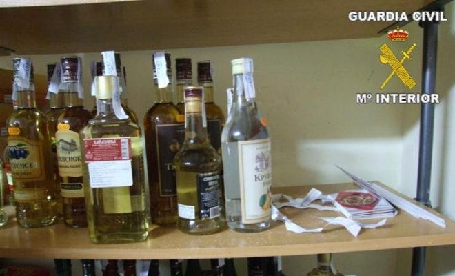 Una redada de la Guadia Civil en establecimientos de venta de bebidas alcohólicas.