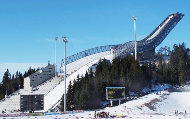 El trampolín de Holmenkollen, en Oslo.