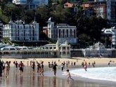 Vista general de la playa de La Concha de San Sebastián.
