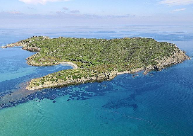 Imagen de la isla d'en Colom.