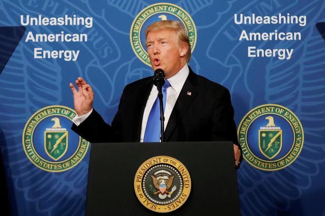 Donald Trump. durante un discurso en 2017.