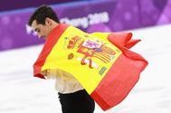 Javier Fernández, en los últimos Juegos de Invierno.