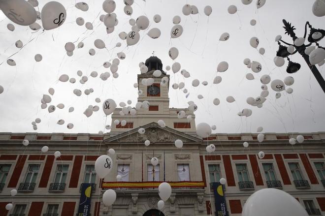 Manifestación a favor de la prisión permanente revisable en la Puerta del Sol