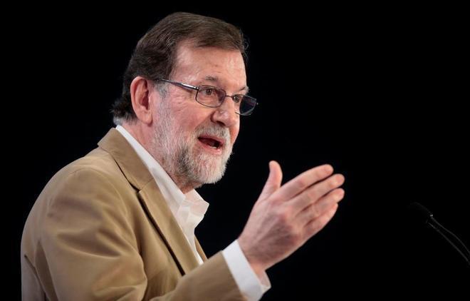 El presidente del Gobierno, Mariano Rajoy, en un acto en Palma