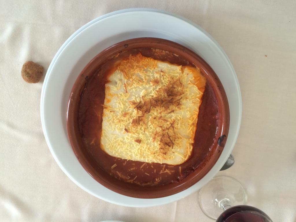 Un plato de Lasaña.