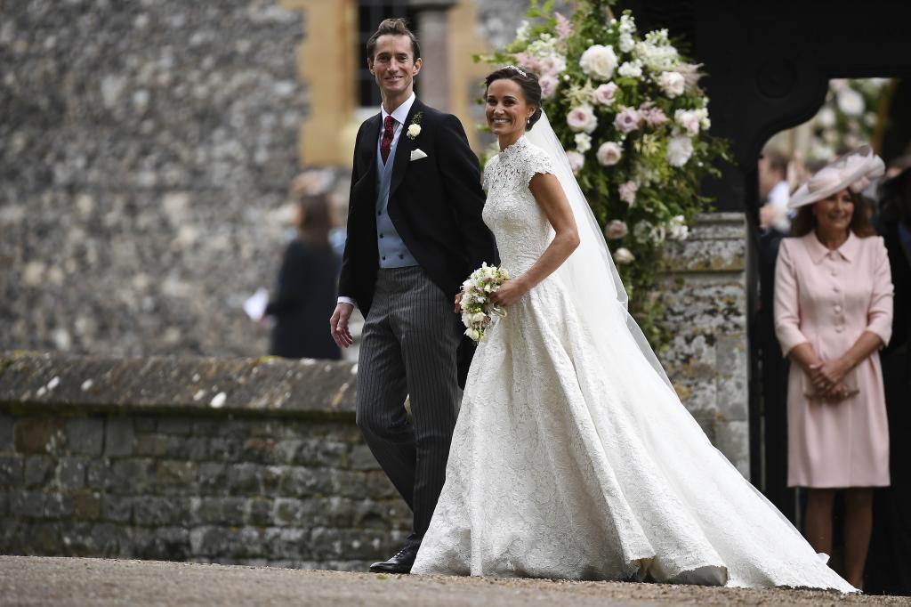 Pippa Middleton y James Matthews, el día de su boda.
