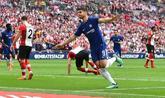 Álvaro Morata celebra su gol ante el Southampton.