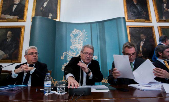 De izquierda a derecha, Juan José Medina, ex alcalde de Moncada; Alfonso Rus, ex presidente de la Diputación; y Máximo Caturla.