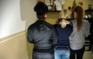 Las tres testigos de la denuncia contra el club de alterne asturiano.