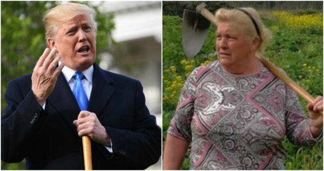 A la izquierda, Donald Trump; a la derecha, Dolores Leis.