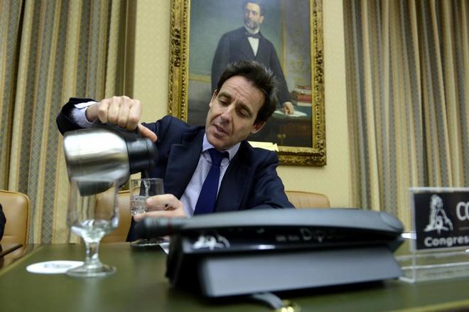 Javier López Madrid, en su comparecencia en la comisión sobre la...