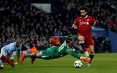 Salah en el último partido del Liverpool