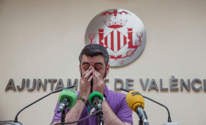 El presidente de JCF, Pere Fuset, durante un acto en el Ayuntamiento de Valencia.