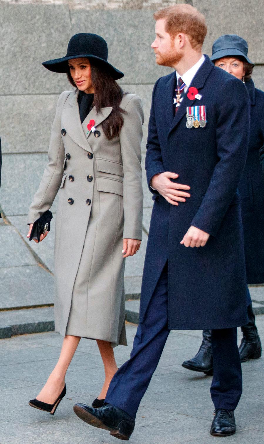 Meghan y Harry han participado en dos actos conmemorativos del Anzac...