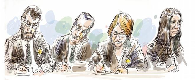Miembros del tribunal que juzga a La Manada