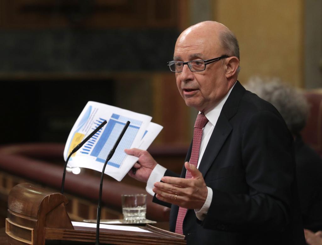 El ministro de Hacienda Cristóbal Montoro ha admitido en la