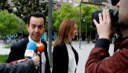 Jesús Pérez, abogado del guardia civil imputado, a su llegada a la...