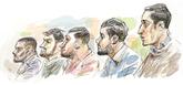 Los miembros de La Manada, condenados en el juicio celebrado en...
