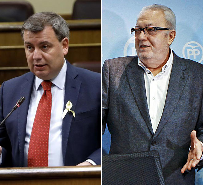 El diputado del PDeCAT Jordi Xuclà y el senador del PP Pedro...