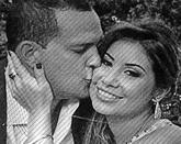 Claudia Díaz Guillén y su marido Adrián Velásquez, en una foto de...