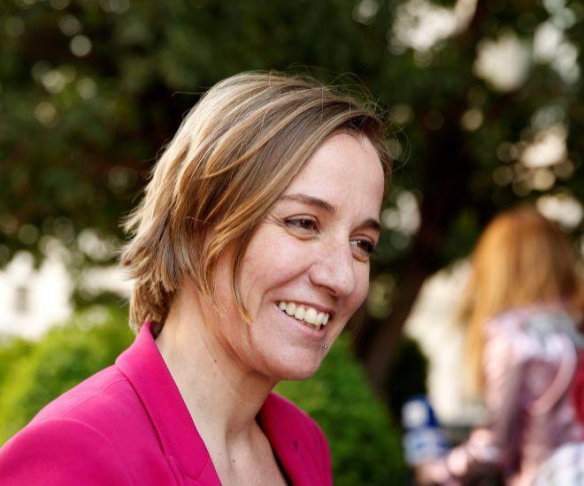 Tania Sánchez el día que se conoció su candidatura