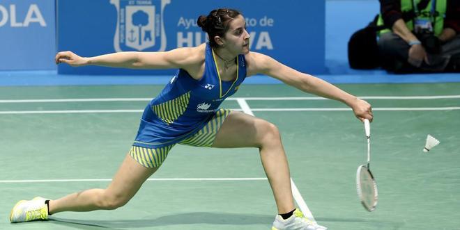 Carolina Marín, en el Campeonato Europeo de Bádminton de Huelva.