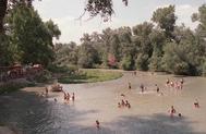 El río Tajo a su paso por Aranjuez.