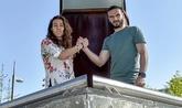 Ainhoa Tirapu y David Lombán posan para EL MUNDO.