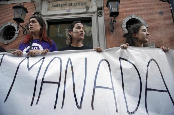 Concentracion feminista en contra de la Manada.