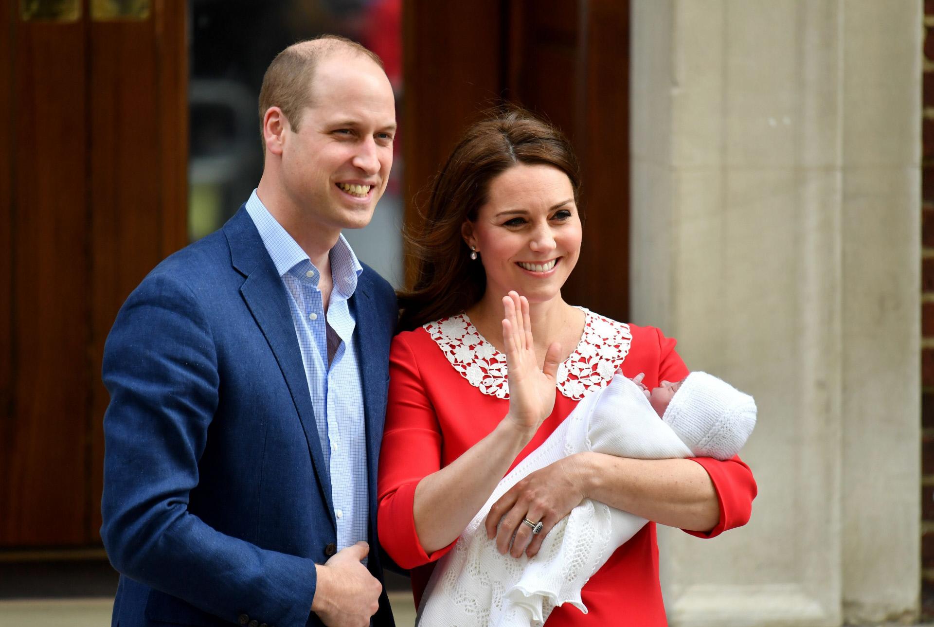 El tercer hijo de los duques de Cambridge se llama Louis Arthur ...