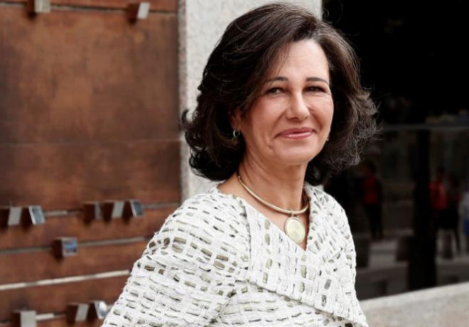 La presidenta del Banco Santander, Ana Patricia Botín, este viernes en Madrid.
