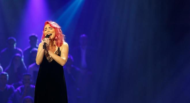 Cláudia Pascoal durante su actuación en el último Festival da...