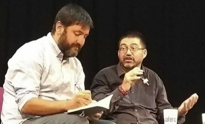 Fernando Sabín y el concejal Carlos Sánchez Mato