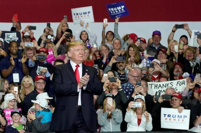 Donald Trump, este sábado en Washington Township, Michigan.