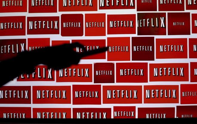 Logos de Netflix en una pantalla.