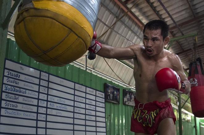 Wanheng Menayothin, durante un entrenamiento en Bangkok.