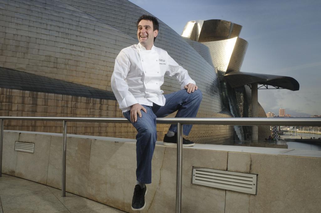 Josean Martínez Alija, chef de Nerua, en el Guggenheim de Bilbao