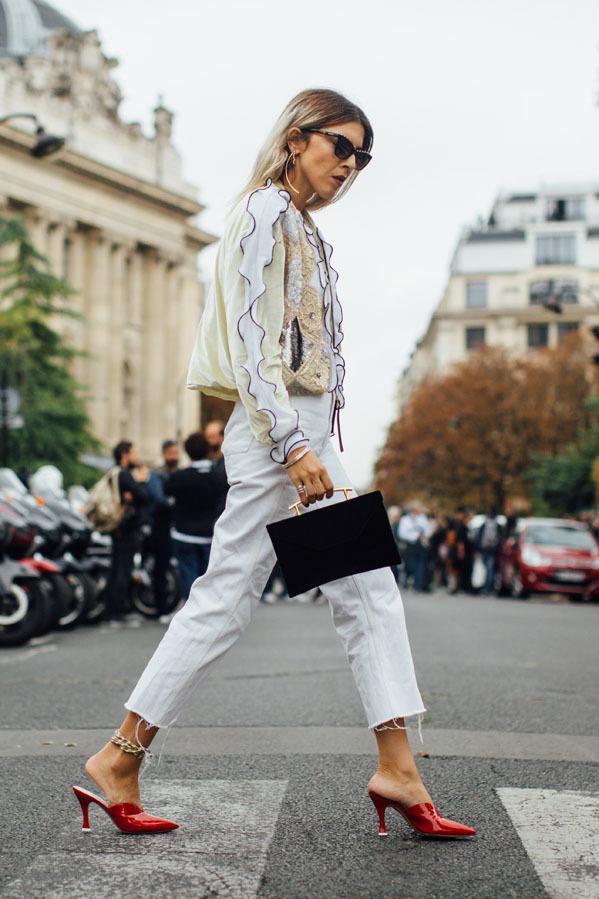 Los modelos tobilleros, con 'mules' y blusas para un estilismo sofisticado