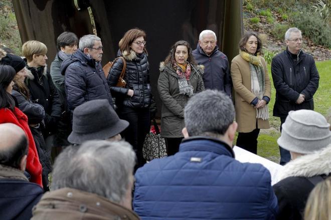 Homenaje a Joseba Pagazaurtundua el pasado febrero en San Sebastián...