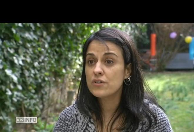 Anna Gabriel, en una entrevista televisiva desde Suiza