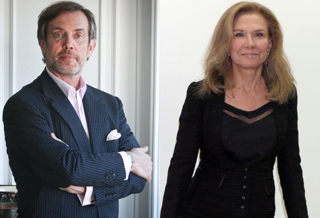 Miguel Paes do Amaral y Alicia Koplowitz en dos imágenes de archivo.