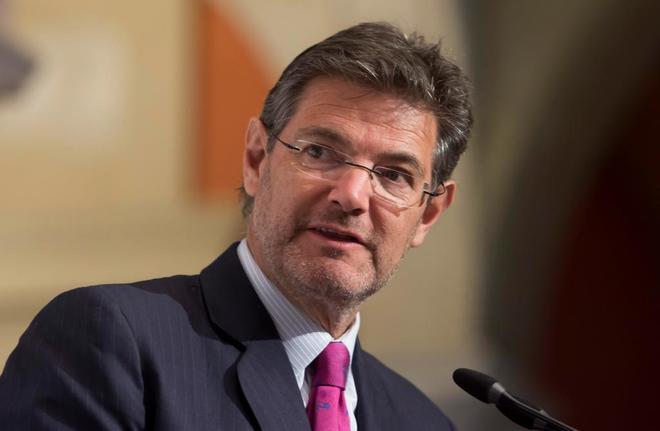 El ministro de Justicia, Rafael Catalá, durante su intervención en un desayuno Informativo en Sevilla.