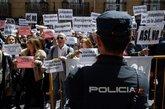 Concentración de jueces y fiscales frente a la sede del Ministerio de...