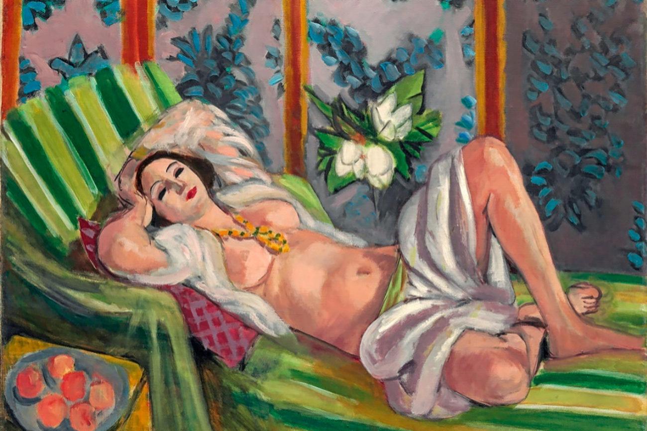 De 1923, el matrimonio colocó este desnudo en su casa de Manhattan...