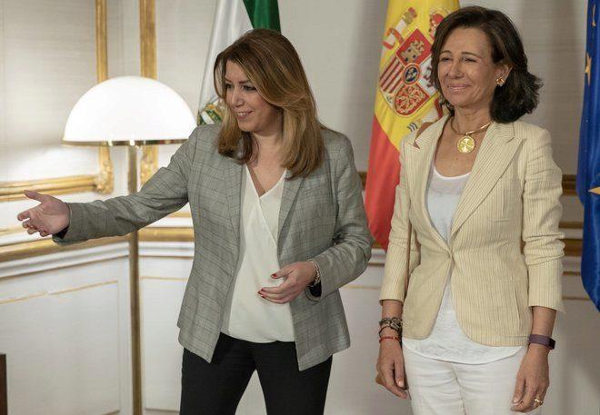 La presidenta de la Junta, Susana Díaz, y la presidenta del Banco Santander, Ana Botín, esta semana en San Telmo.