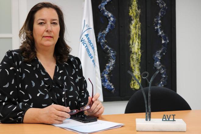 Maite Araluce, nueva presidenta de la AVT, en una imagen facilitada...