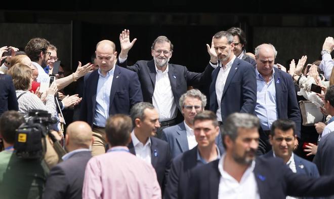Mariano Rajoy en el mitin de ayer en Alicante.