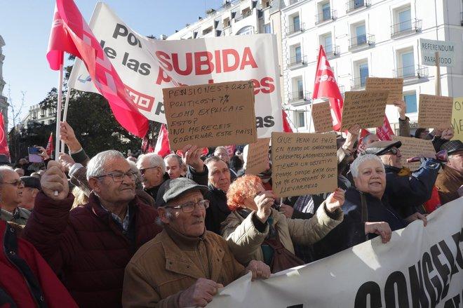 Manifestantes protestan en las calles de Madrid el pasado sábado