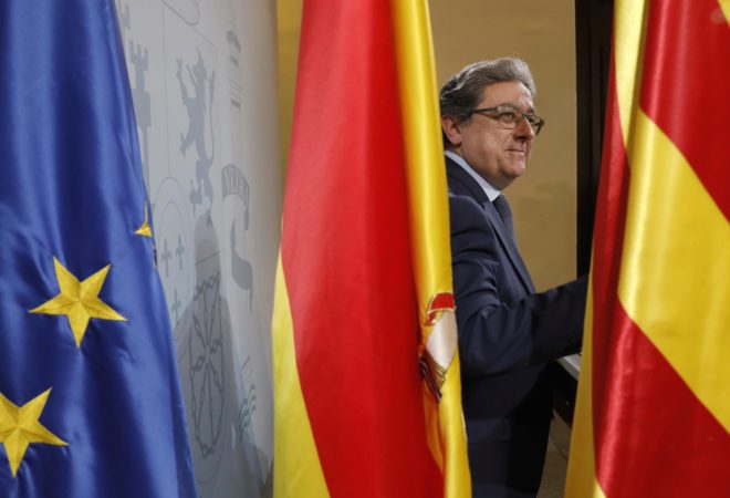 El delegado del Gobierno en Cataluña, Enric Millo, en Barcelona,...