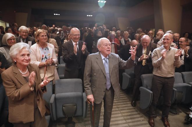 El ex president Jordi Pujol durante el homenaje que recibió el lunes en Barcelona